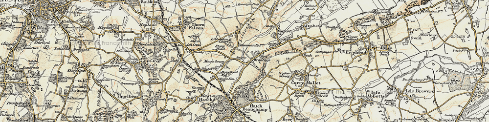Old map of Wrantage in 1898-1900