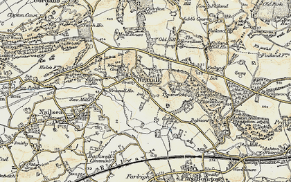 Old map of Wraxall Ho in 1899