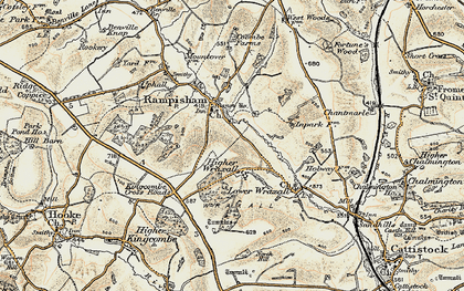 Old map of Wraxall in 1899