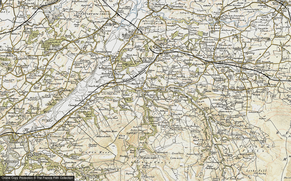Old Map of Historic Map covering Above Beck in 1903-1904