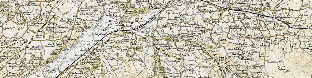 Old map of Above Beck in 1903-1904