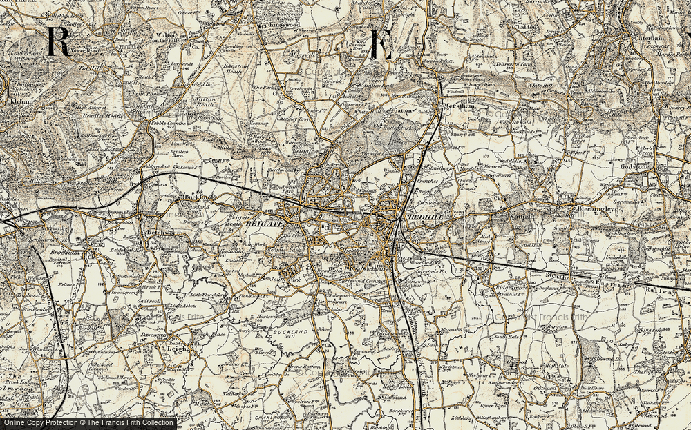 Old Map of Wray Common, 1898-1909 in 1898-1909