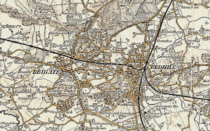 Old map of Wray Common in 1898-1909