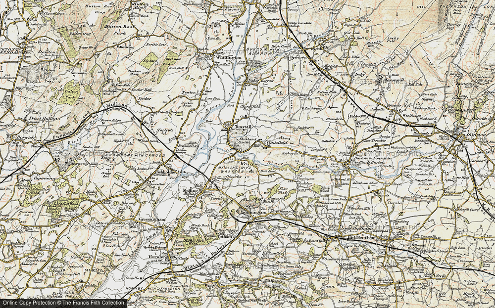 Old Map of Wrayton, 1903-1904 in 1903-1904