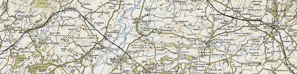 Old map of Wrayton in 1903-1904