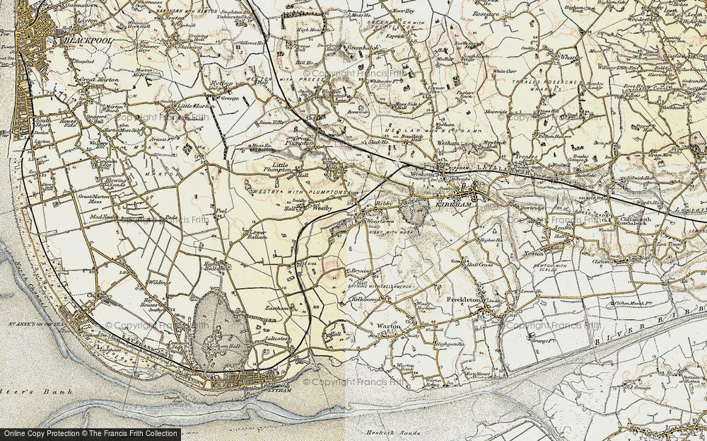Old Map of Wrea Green, 1903 in 1903