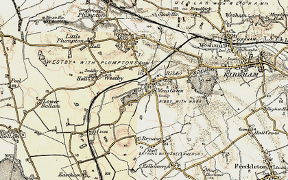 Old map of Wrea Green in 1903