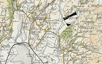 Old map of Wreaks End in 1903-1904
