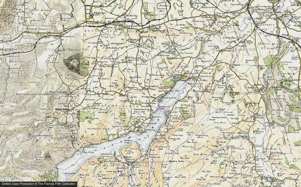 Old Map of Historic Map covering Tongue in 1901-1904