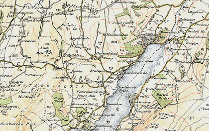 Old map of Tongue in 1901-1904