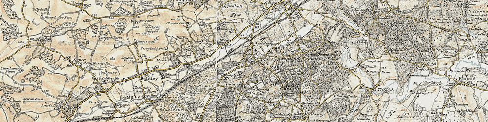 Old map of Wrecclesham in 1897-1909