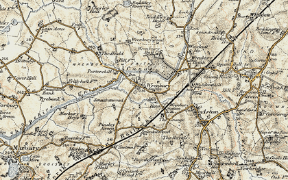 Old map of Wrenburywood in 1902