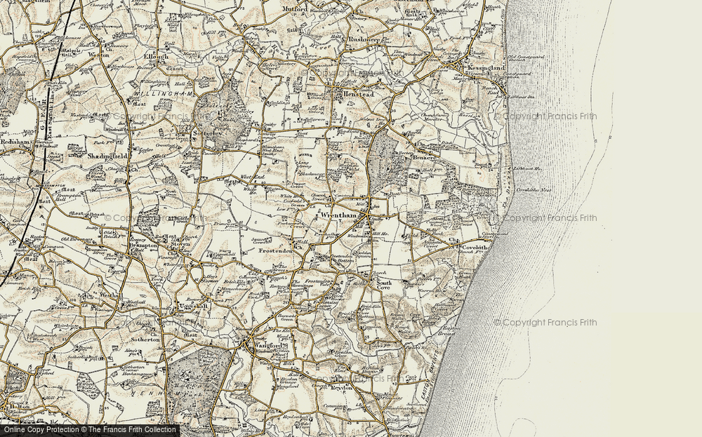 Old Map of Wrentham, 1901-1902 in 1901-1902