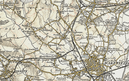 Old map of Balne Beck in 1903