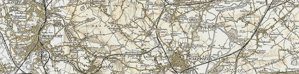Old map of Wrenthorpe in 1903