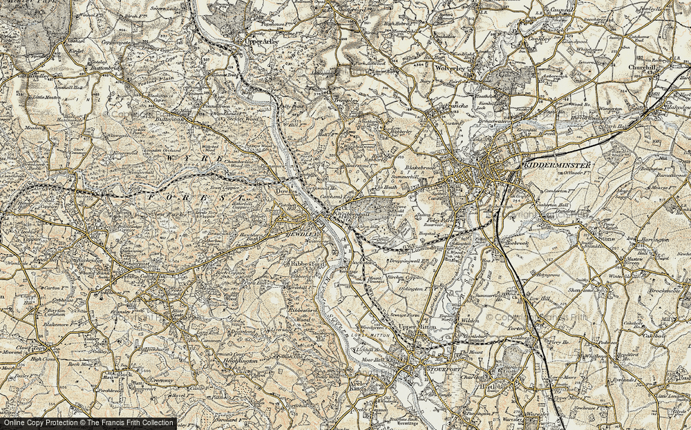 Old Map of Wribbenhall, 1901-1902 in 1901-1902