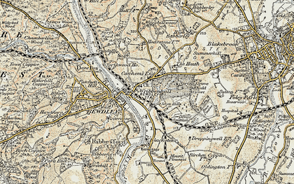 Old map of Wribbenhall in 1901-1902
