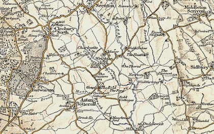 Old map of Wrickton in 1901-1902
