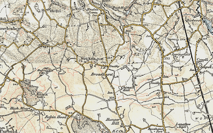 Old map of Wrightington Bar in 1903