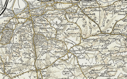Old map of Wrights Green in 1902-1903