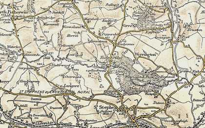 Old map of Leat in 1900