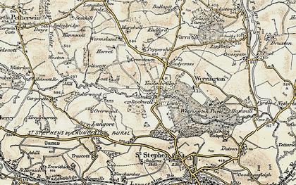 Old map of Yeolm Bridge in 1900