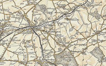 Old map of Writhlington in 1899