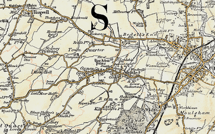 Old map of Writtle in 1898
