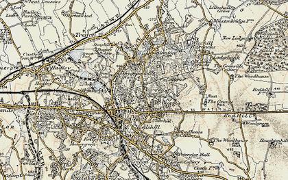 Old map of Wrockwardine Wood in 1902
