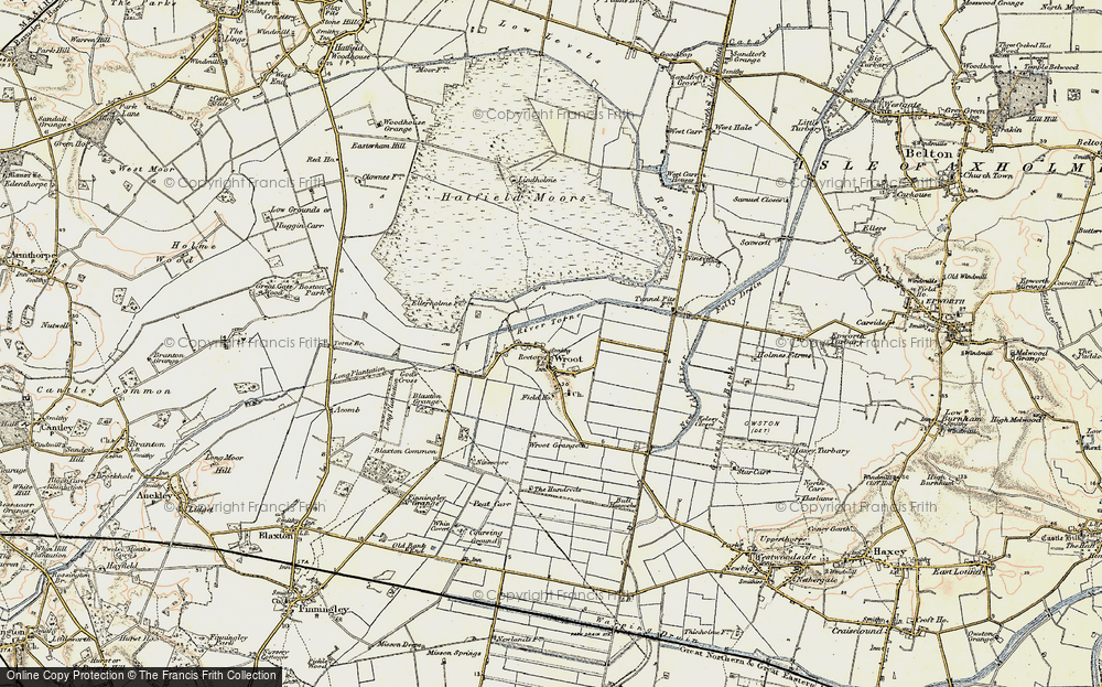 Old Map of Wroot, 1903 in 1903