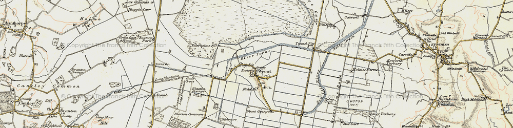 Old map of Wroot in 1903