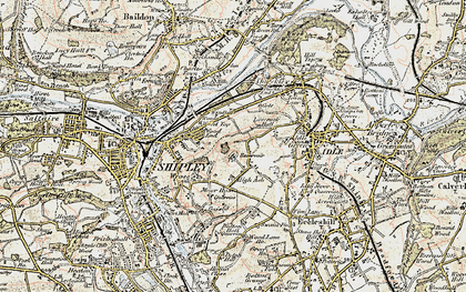 Old map of Wrose in 1903-1904