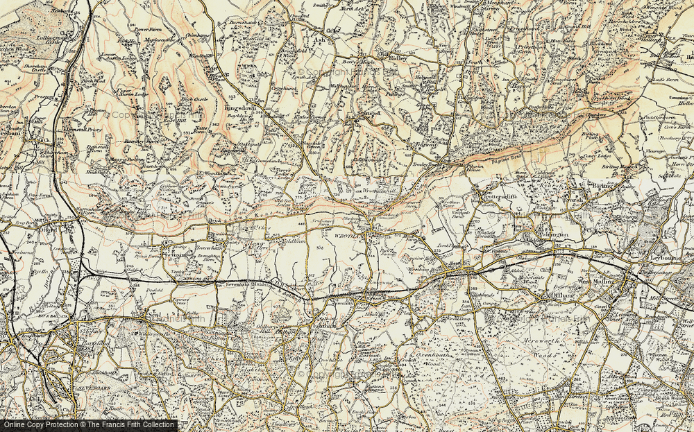 Old Map of Wrotham, 1897-1898 in 1897-1898