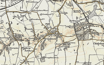 Old map of Wroughton in 1897-1899