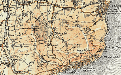 Old map of Wroxall in 1899