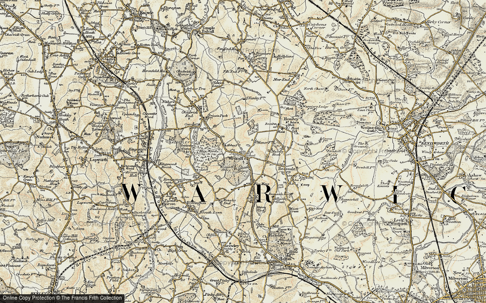 Old Map of Wroxall, 1901-1902 in 1901-1902