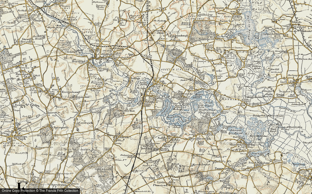 Old Map of Wroxham, 1901-1902 in 1901-1902