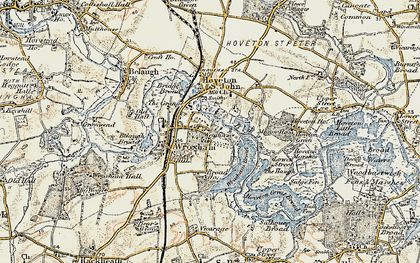 Old map of Wroxham in 1901-1902