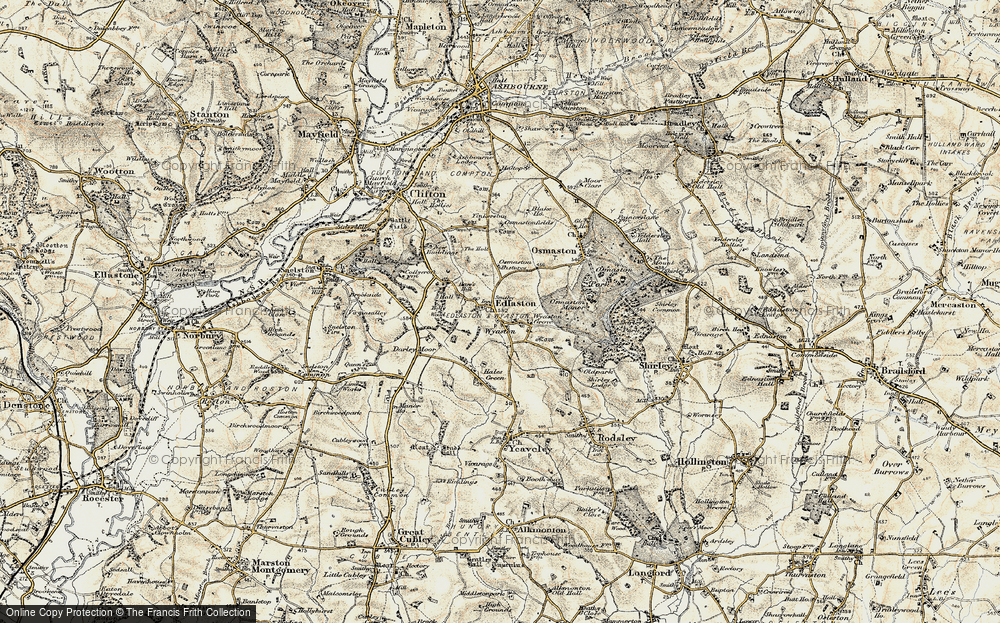 Old Map of Wyaston, 1902 in 1902