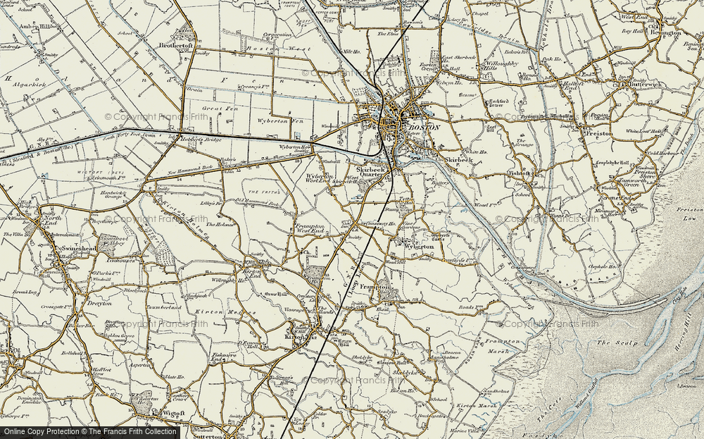 Old Map of Wyberton, 1901-1902 in 1901-1902