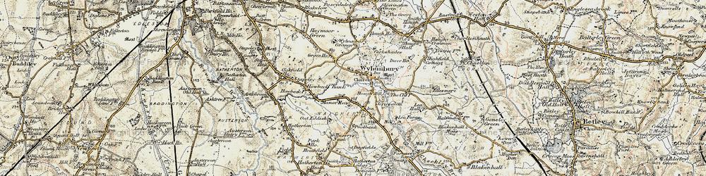 Old map of Wybunbury Grange in 1902