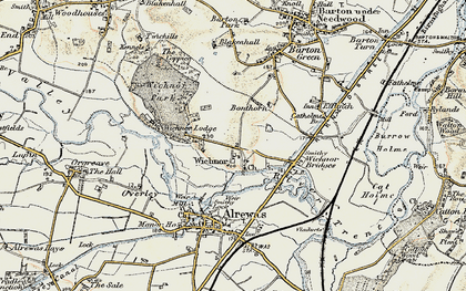 Old map of Wychnor in 1902