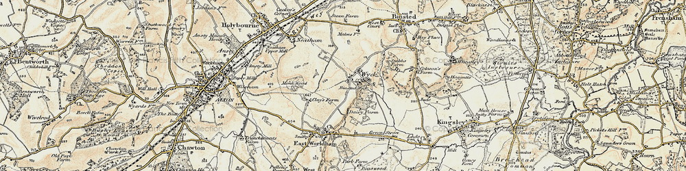 Old map of Wyck in 1897-1909