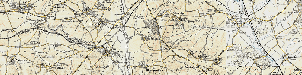 Old map of Wyck Hill in 1898-1899