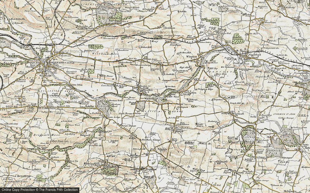 Old Map of Wycliffe, 1903-1904 in 1903-1904