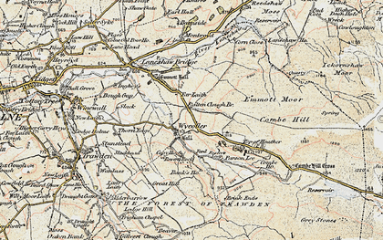 Old map of Wycoller in 1903-1904
