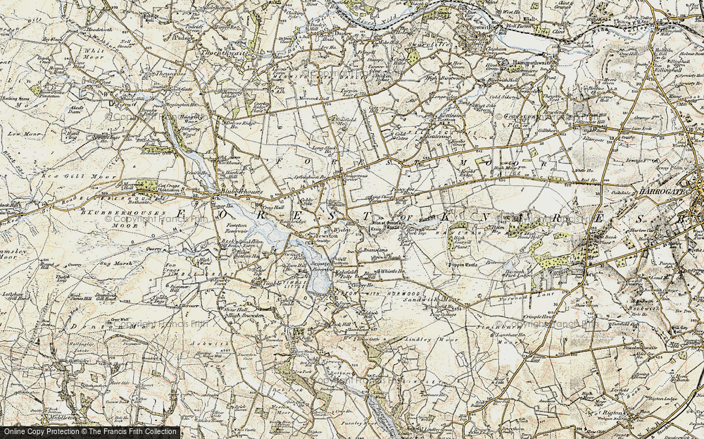 Old Map of Historic Map covering Bank Slack in 1903-1904