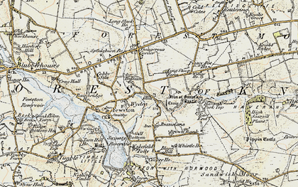 Old map of Worstall Craggs in 1903-1904