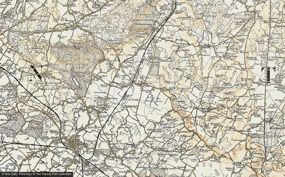 Old Map of Wye, 1897-1898 in 1897-1898