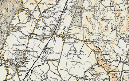Old map of Wye Court in 1897-1898
